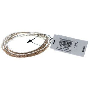 Express peach rhinestone stretch bracelet set (5)